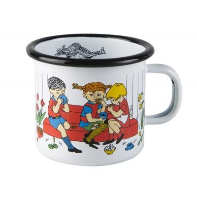 Pippi Кружка эмалированная 250мл белая Cup of Coffee
