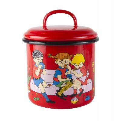 Pippi Банка для хранения 1,3л красная Cup of Coffee