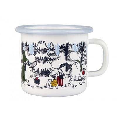 Moomin Кружка эмалированная Зимний лес, 250 мл