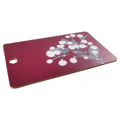 Snowberry Разделочная доска 35х20, бордовая