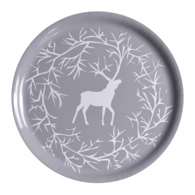 Reindeer Поднос круглый,35 см, Северный олень