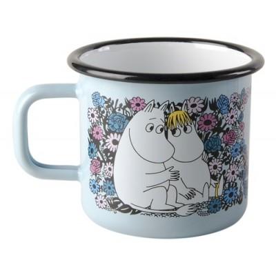 Moomin Кружка эмалированная Moomin Retro, Влюбленные, 370 мл