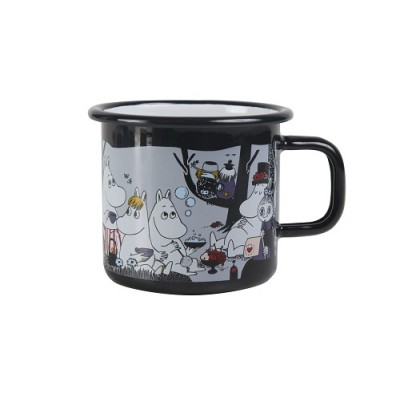 Moomin Кружка эмалированная Moomin Retro, Пикник, 370 мл