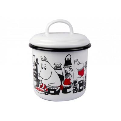 Moomin Емкость для хранения, Jam, белая, 1 л