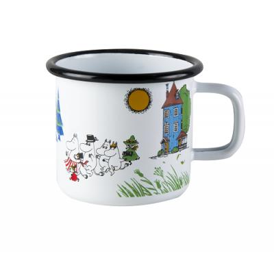 Moomin Кружка эмалированная, Moomin Colors, Муми-дол, 370 мл