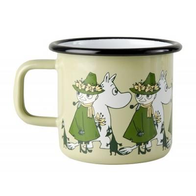 Moomin Кружка эмалированная Moomin Friends, Муми-Тролль и Снусмумрик, 370 мл