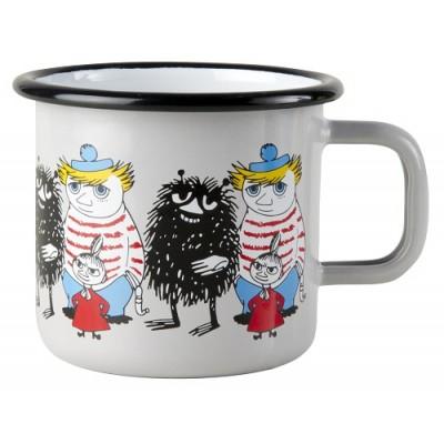 Moomin Кружка эмалированная Moomin Friends, Стинки, Малышка Мю, Туу Тикки, 370 мл