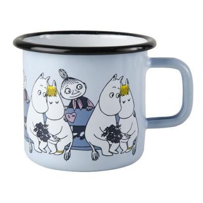 Moomin Кружка эмалированная Moomin Friends Муми-Тролль, Фрекен Снорк, Мюмла, 370 мл