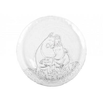Moomin Стеклянная тарелка Любовь