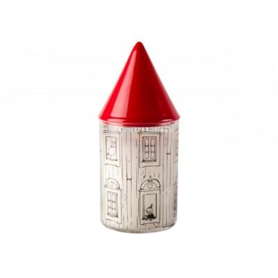 Moomin Свеча с фарфоровой крышкой Муми-дом, 17 см