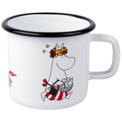 Эмалированная кружка Moomin Retro, Муми-мама, 370 мл