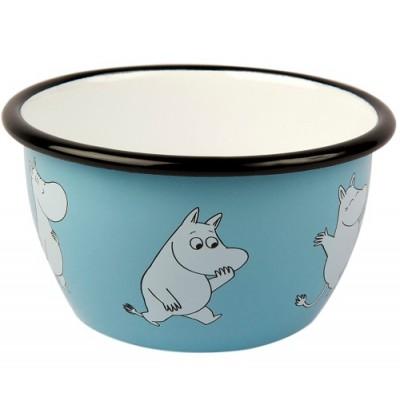 Moomin Пиала эмалированная Moomin Retro, Муми-тролль, 600 мл